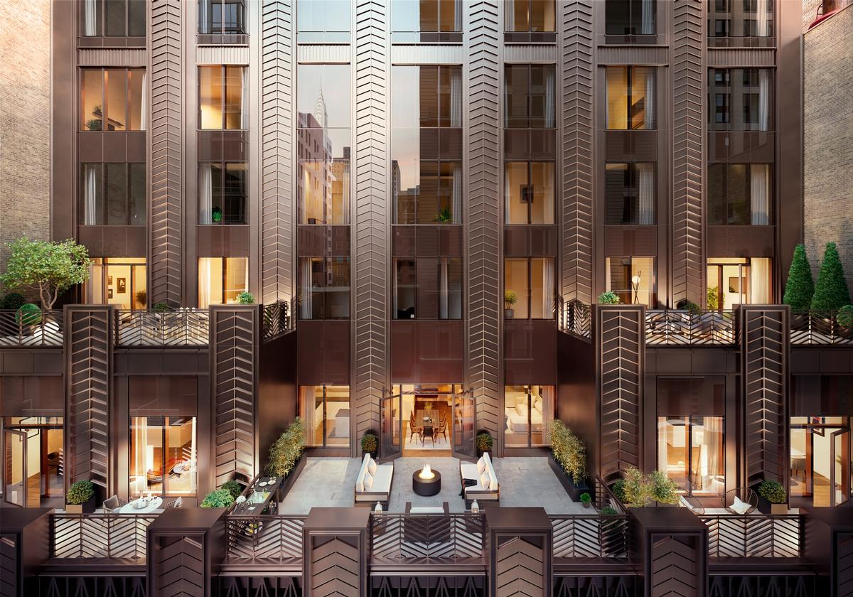 Many residences will feature outdoor terraces / Rockefeller Group
