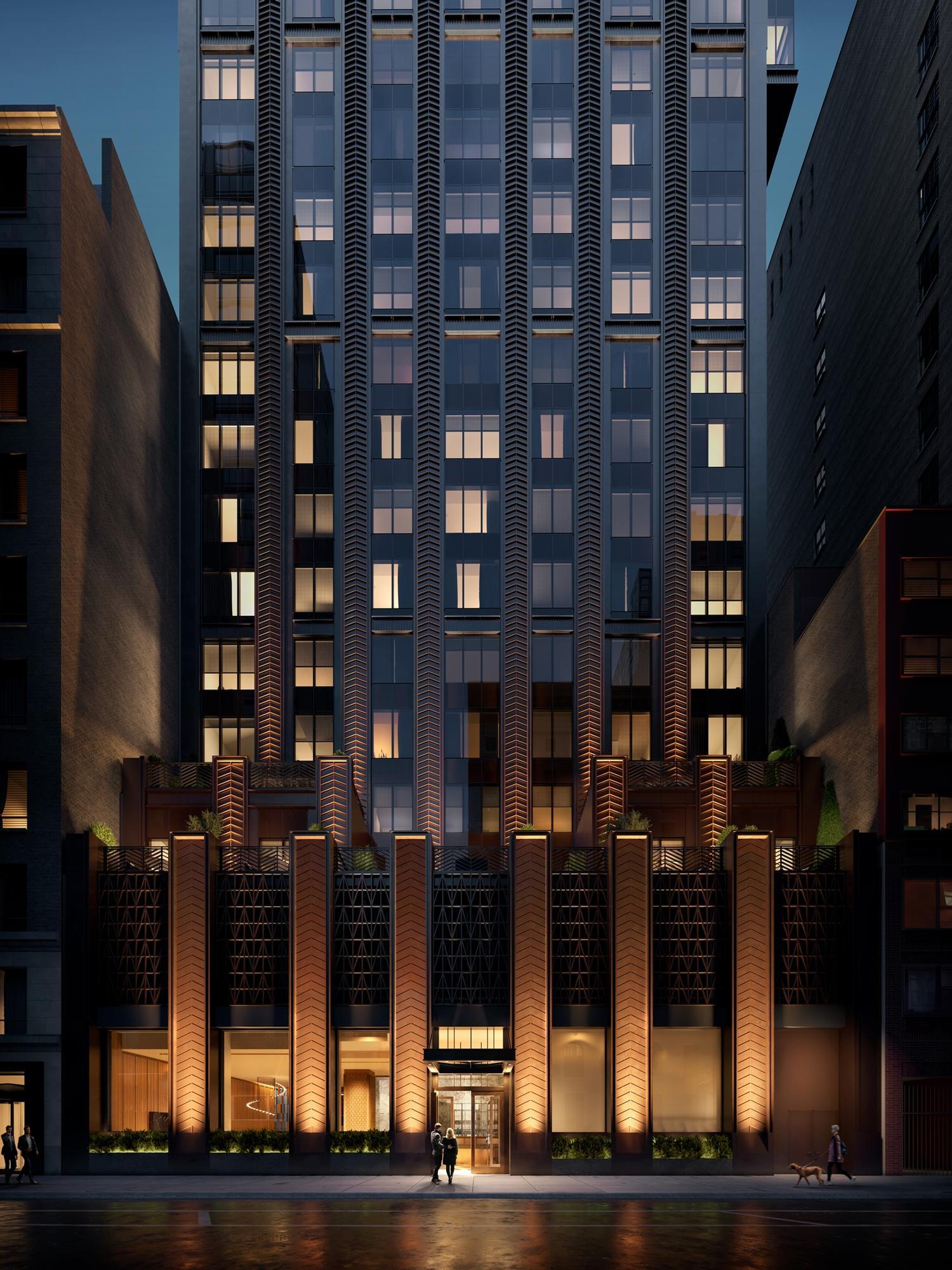 The building's Art Deco design includes a bronze-tone façade / Rockefeller Group