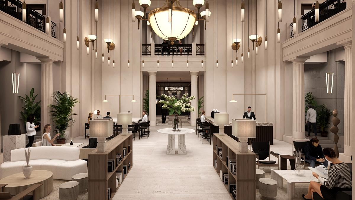 A hotel-style lobby has been designed to create a mood-boosting first impression / Labs Collective