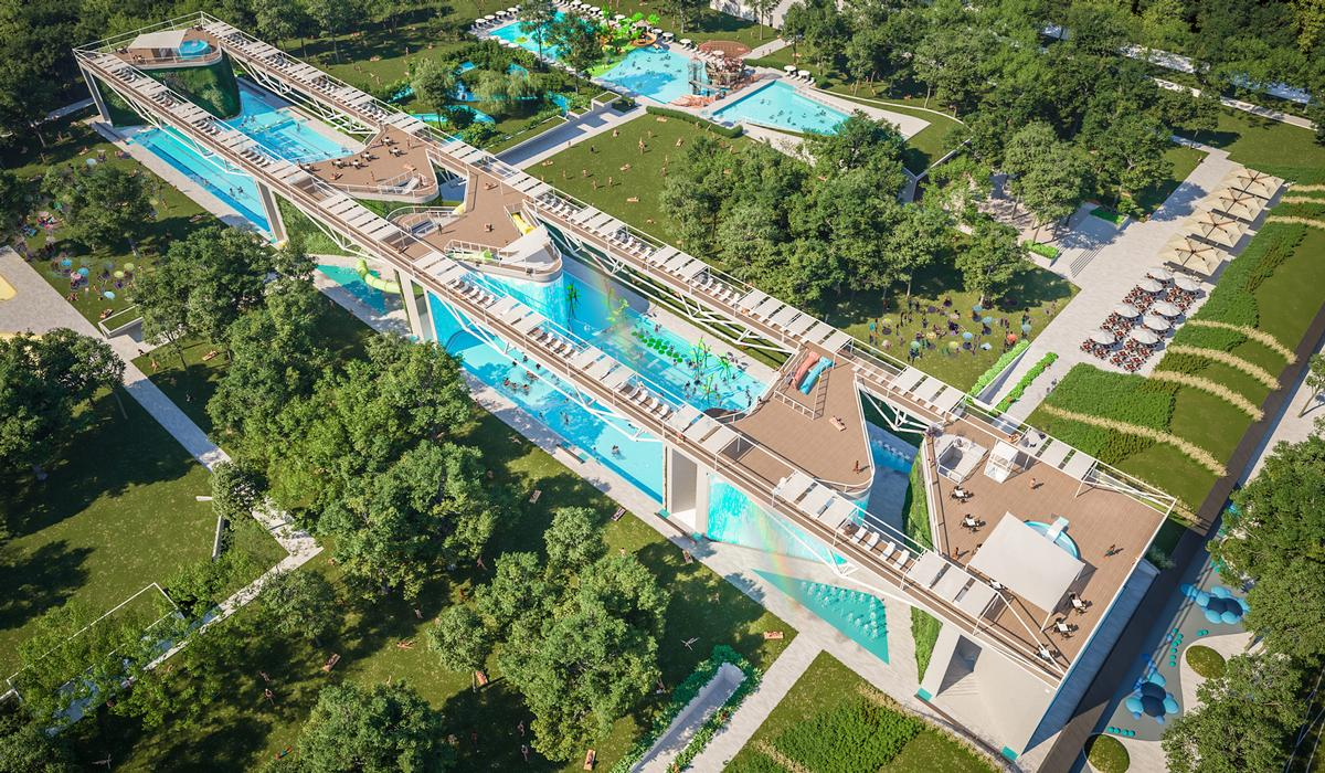 Aquaticum is situated in the middle of the Great Forest of Debrecen