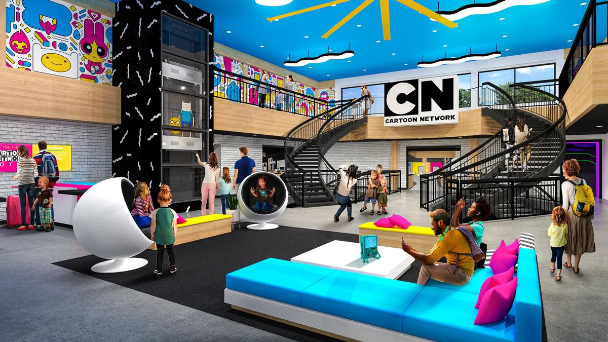 There will be an indoor pool, a games room, a kids play area and a Cartoon Network stor / Cartoon Network