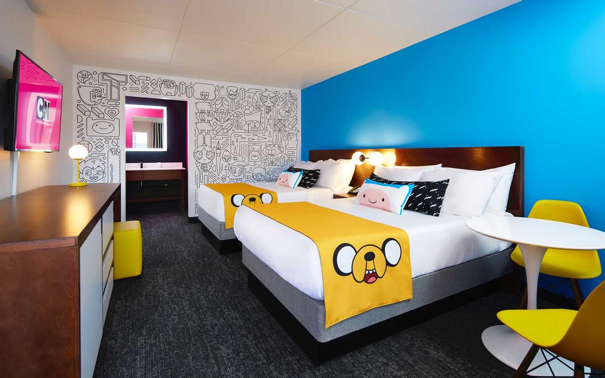 Each guest room and suite will feature interchangeable show theming that can be customised around children's preferences / Cartoon Network