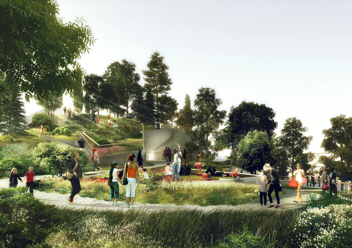 Little Island will have approximately 100 species of trees and shrubs / Little Island