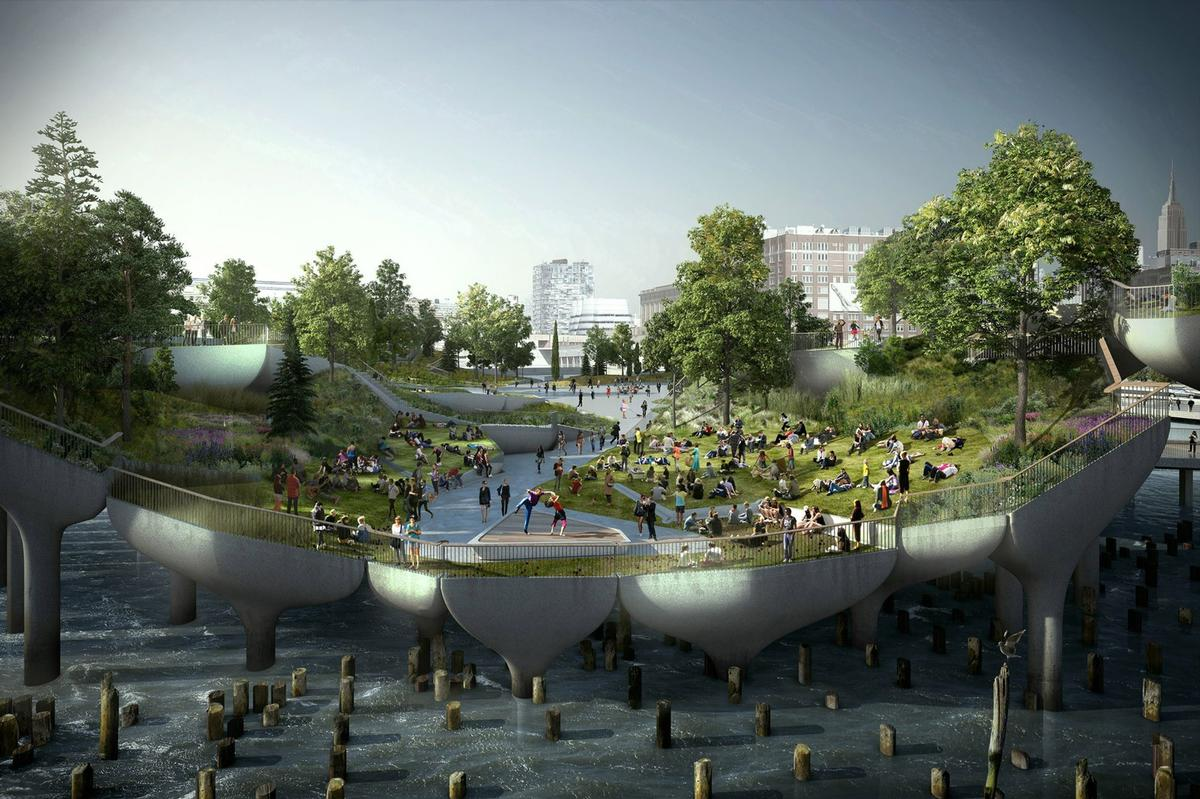 There will be areas set aside for arts, educational and community programming / Little Island