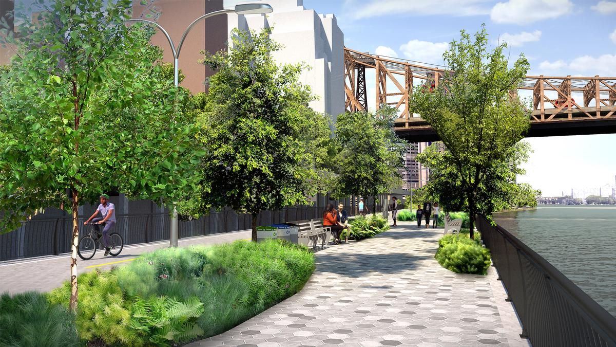 Pier 55 and East Midtown Greenway updates continue Manhattan Waterfront Greenway development