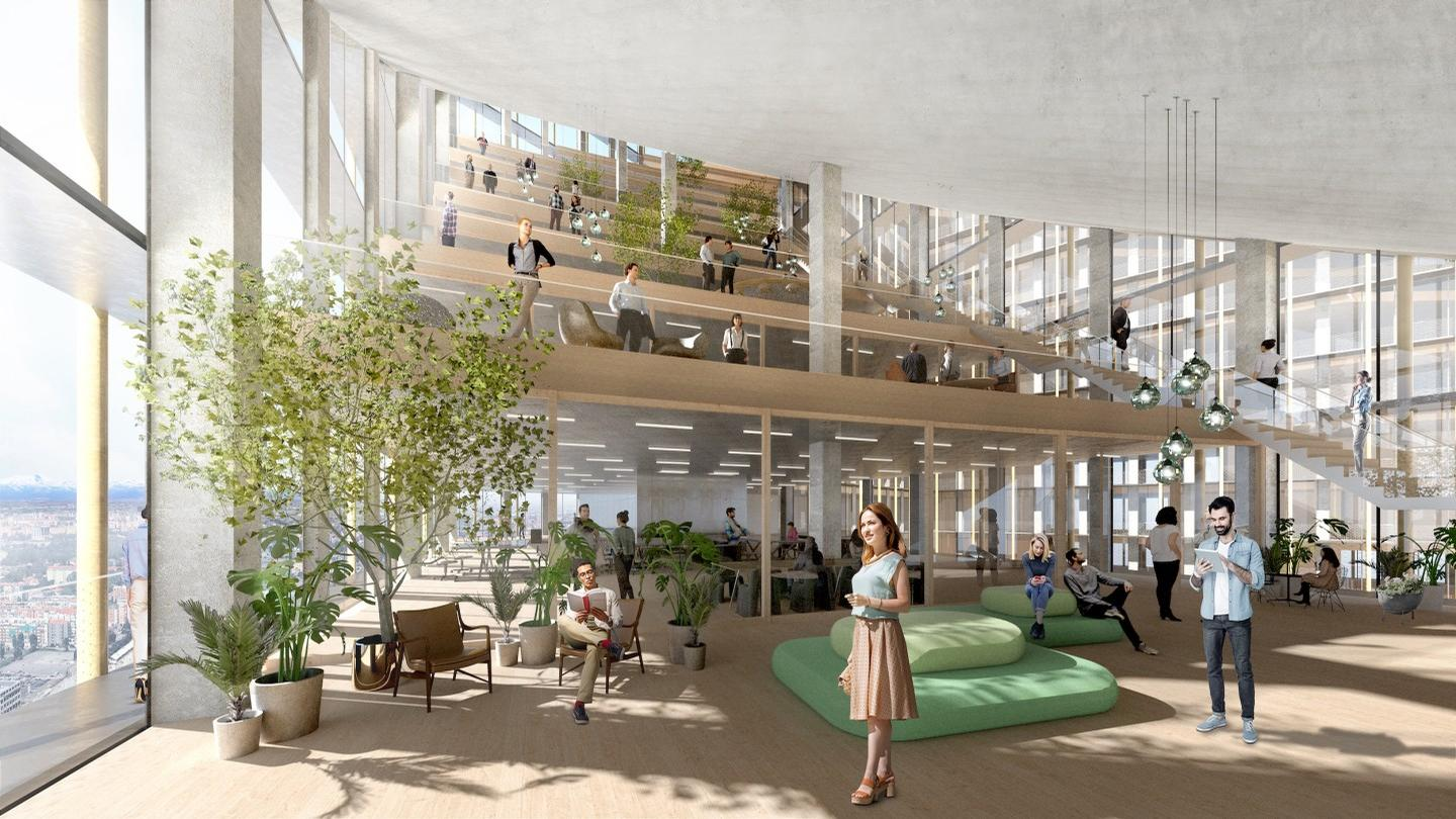 Large floorplates will ensure the buildings have ample room for programming / Bjarke Ingels Group