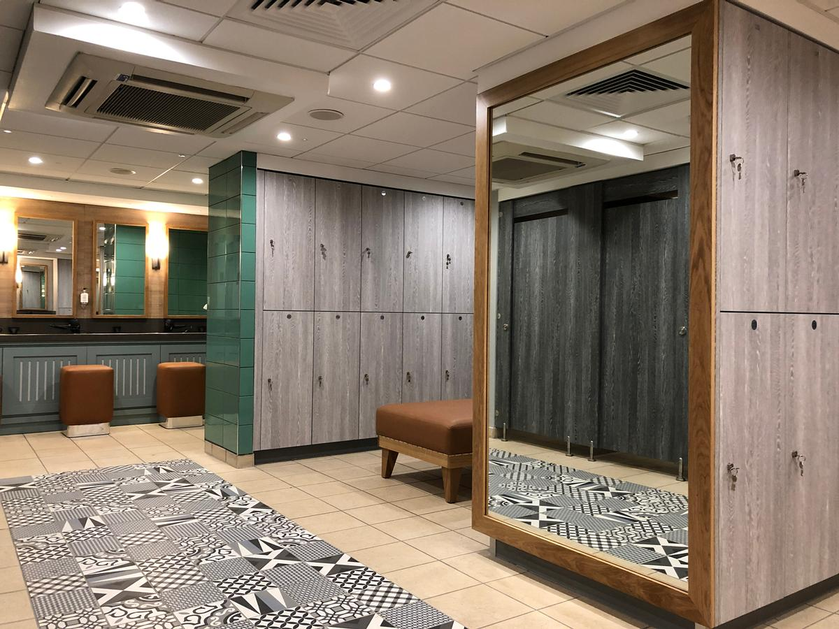 Crown Sports Lockers has created a waterproof and antibacterial locker solution that combines sustainability and practicality