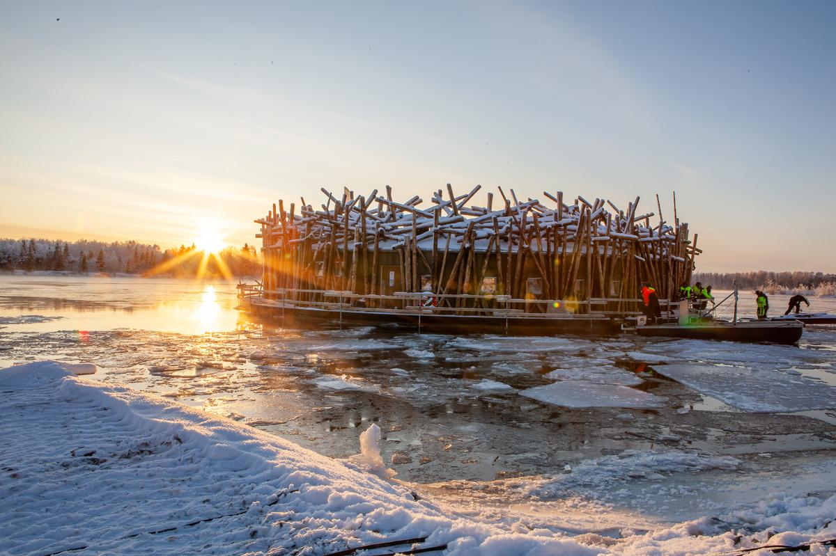 Harström and Krauppi were inspired to create Arctic Bath during the opening of Treehotel, Harads, in 2010. / Anders Blomqvist
