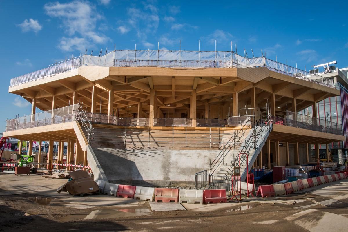 The pavilion broke ground in February this year / Sean Pollock
