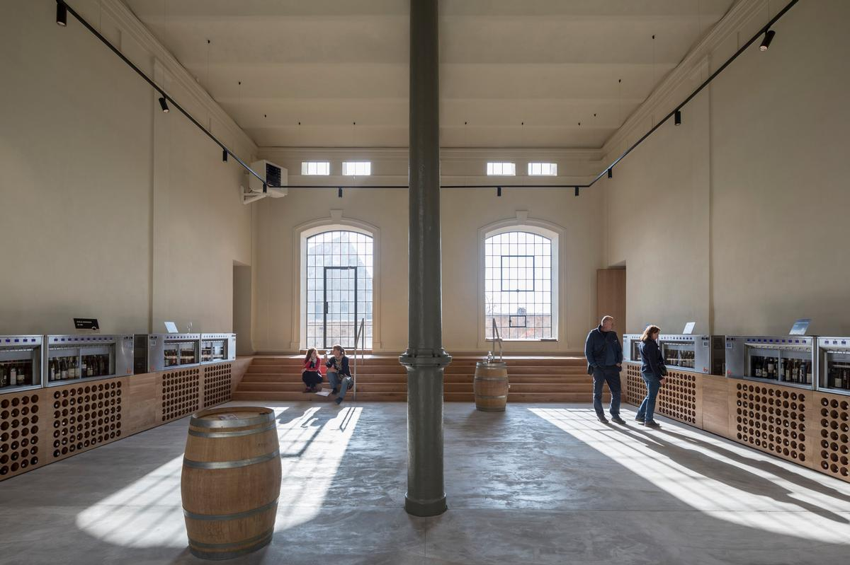 The original brewery building has been treated as a heritage site / Laurian Ghinitoiu