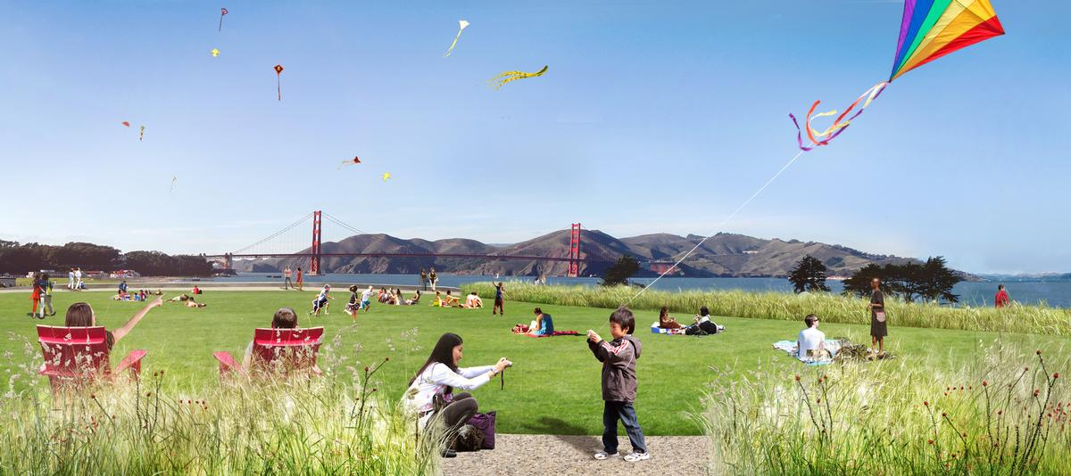 There will also space for activities like picnicking, kite-flying and family gatherings / James Corner Field Operations