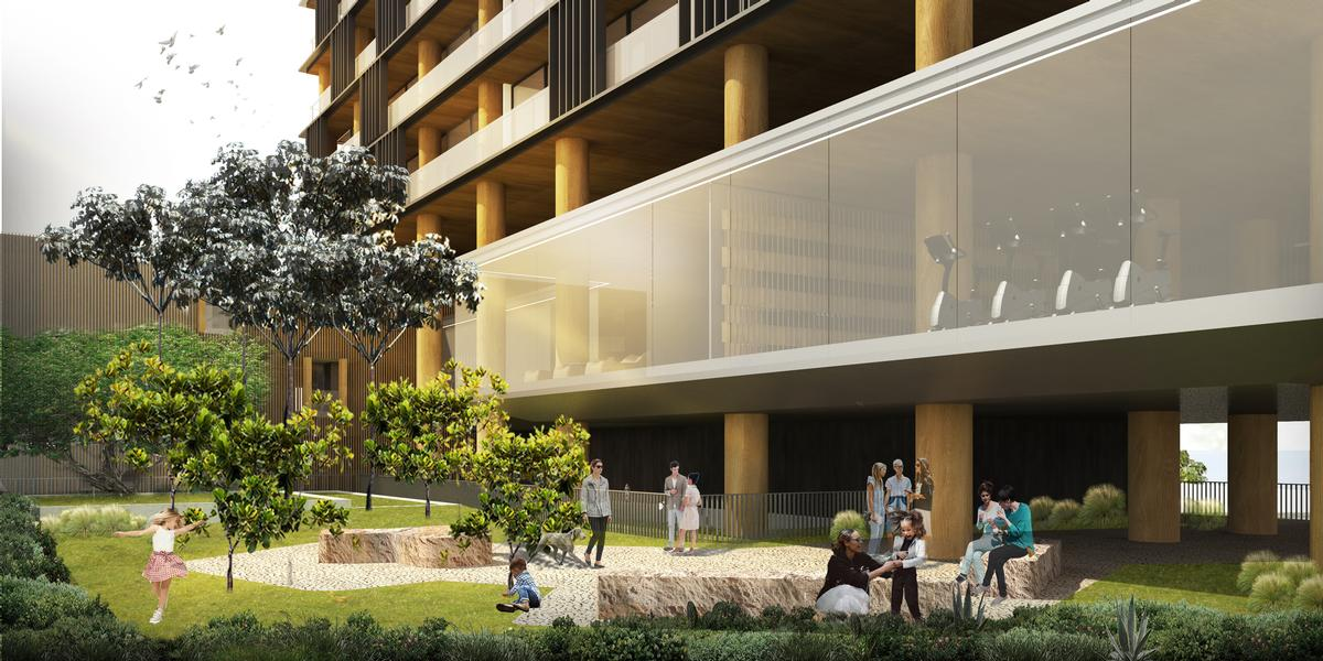 The square will feature places to sit, lawn and paving areas, trees and plants / Studio Arthur Casas