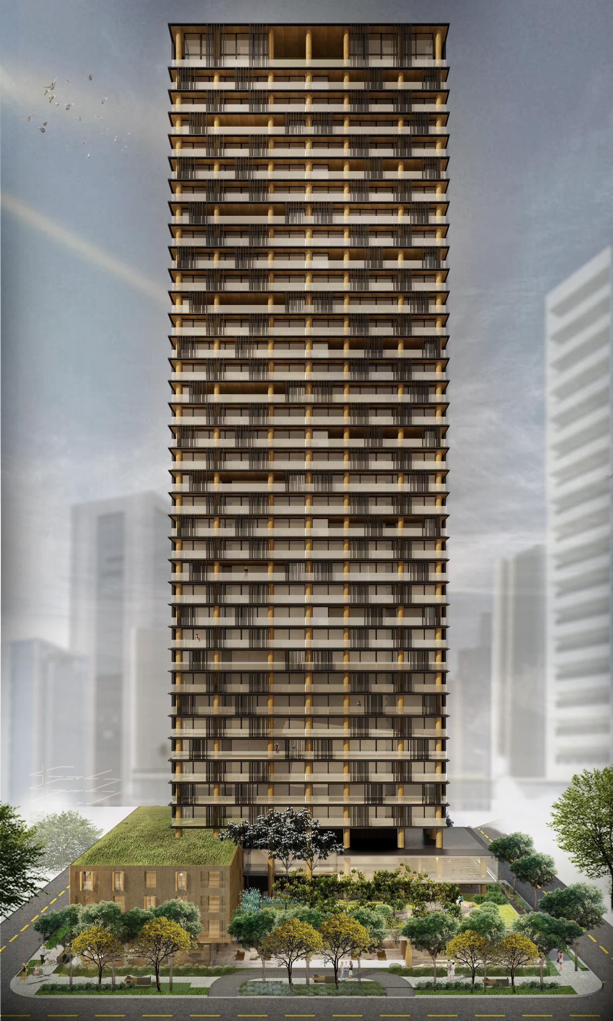 The tower will rise 41 levels to a height of 131m (430ft) / Studio Arthur Casas
