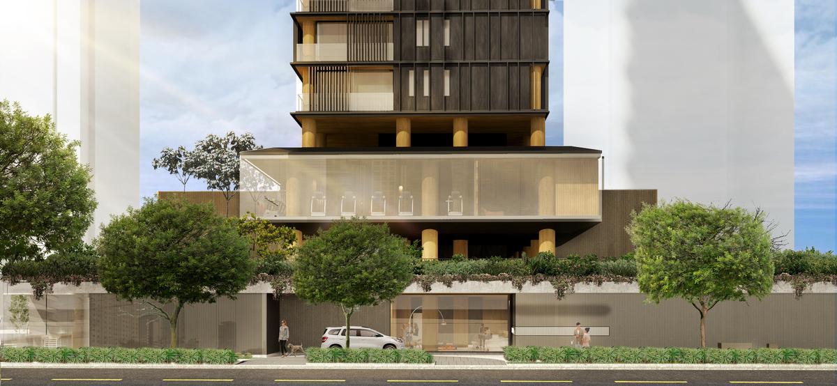 The complex will have three street-facing elevations / Studio Arthur Casas