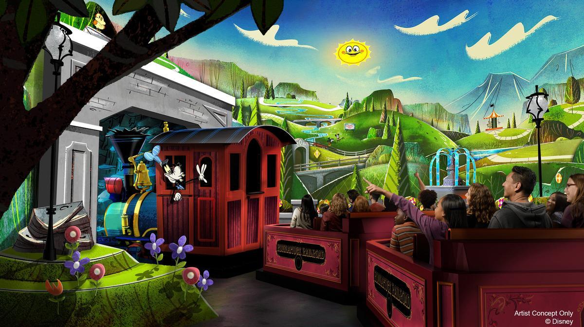 Mickey & Minnie's Runaway Railway will open in March 2020 / Disney
