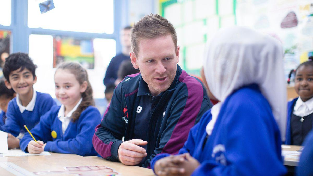 The Key Stage 2 resource was launched by England ODI cricket captain Eoin Morgan (pictured) and will enable teachers to discuss with their class how diversity within a team helps to make it stronger / ECB / The Football Association