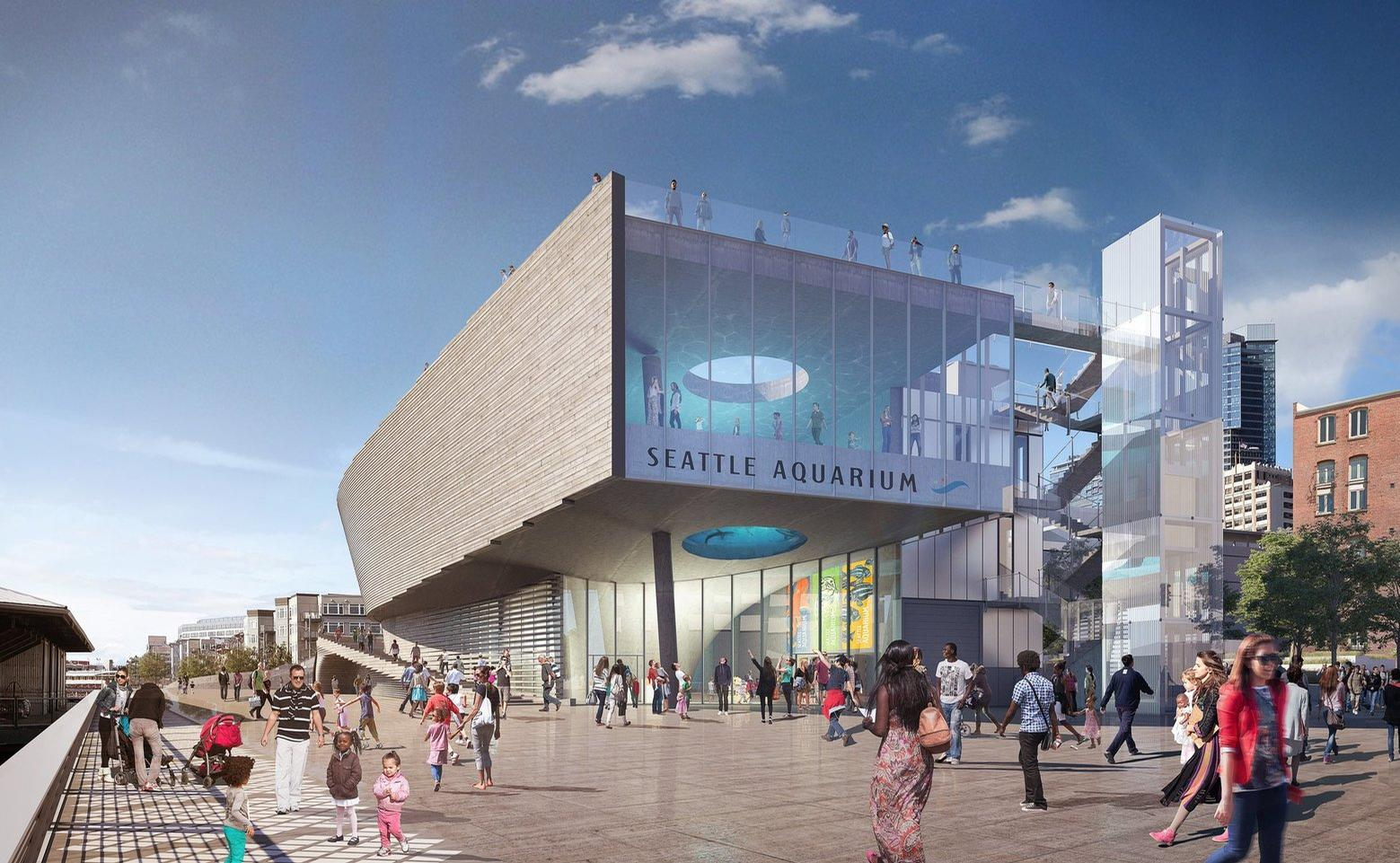 The Seattle Aquarium is expected to attract more than a million visitors a year once the city's waterfront development is complete / LMN Architects