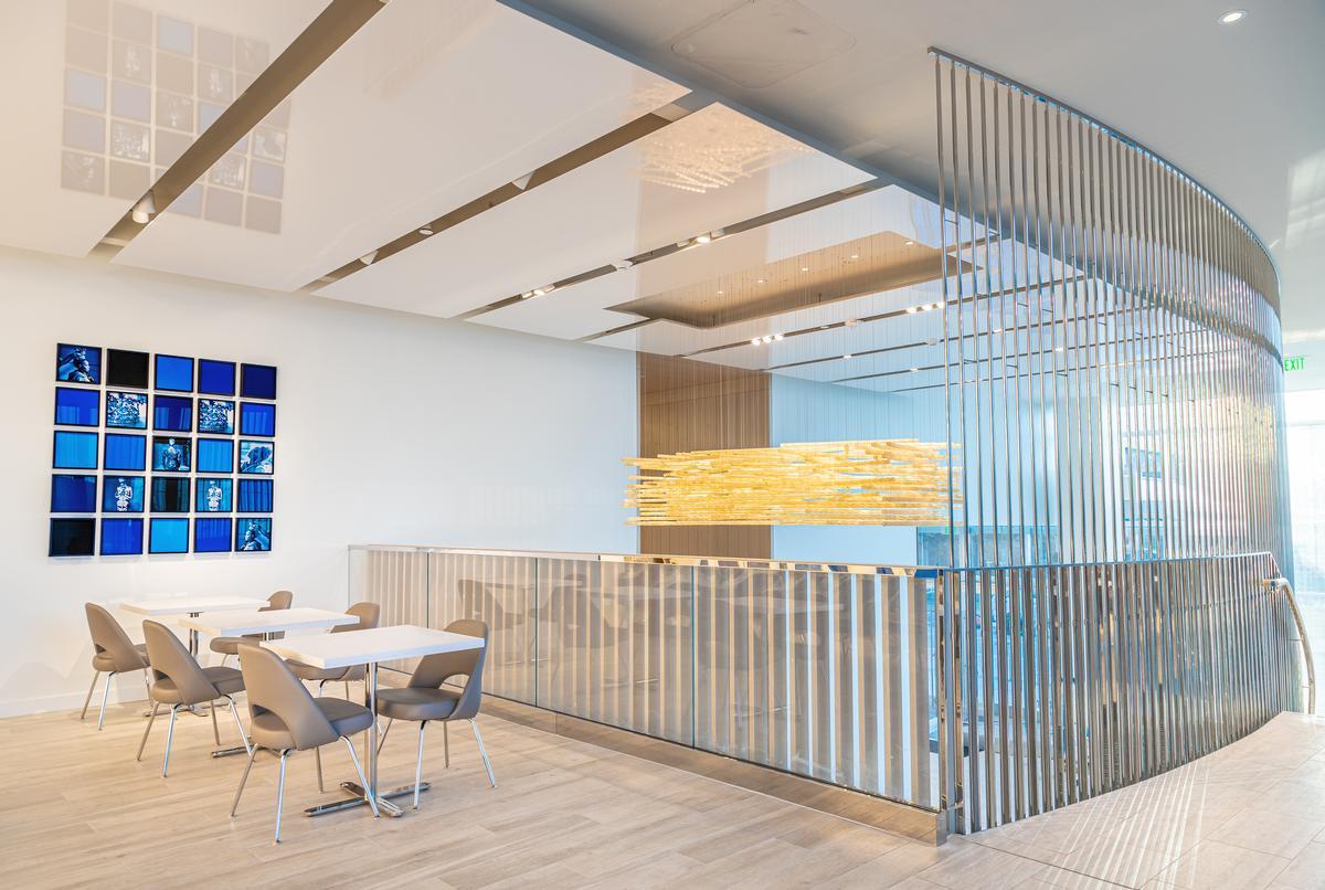 The hotel interiors were designed by Bentel & Bentel
