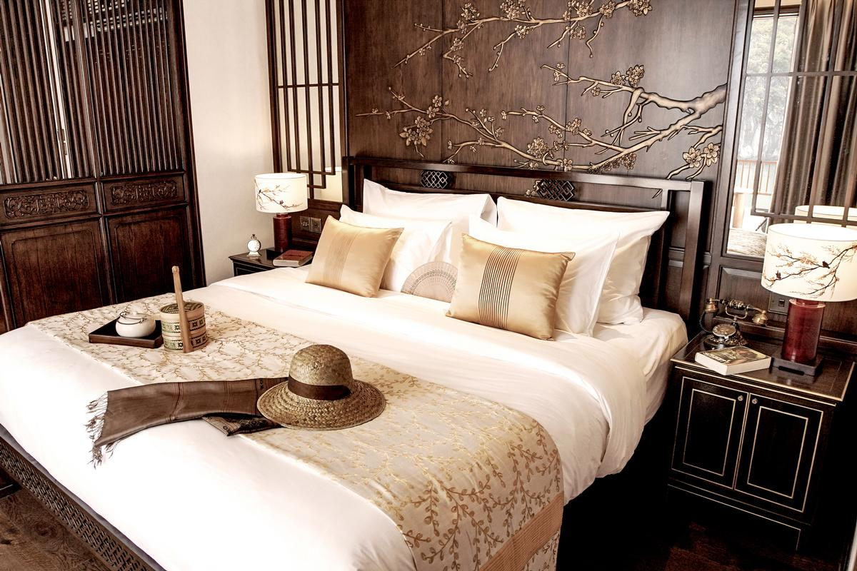 Conceptualised with Asian-Vietnamese influences, all accommodation on the 10-suite boat is equipped with a private balcony and in-room lounge.