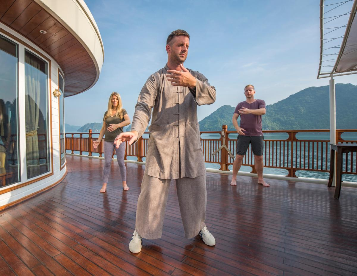 The holistic wellbeing experience includes an activity schedule comprised of guided meditation and early morning open-air Tai Chi sessions.