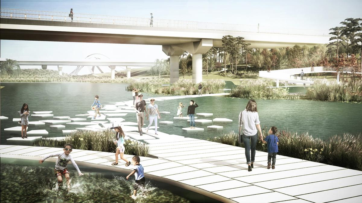 The aim is to return the area to a more natural state / MVRDV & Seoahn Total Landscape Architecture