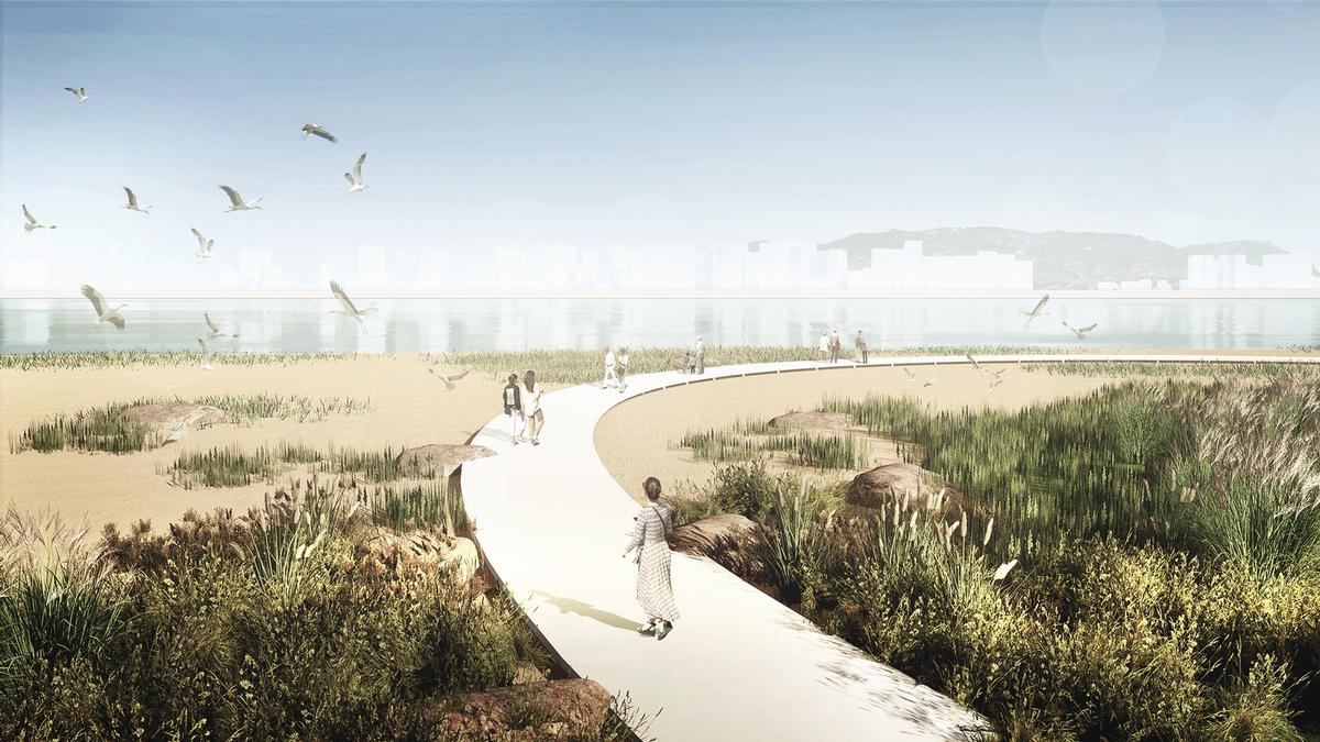 There will be a mix of natural ecosystems, pathways and places for recreation / MVRDV & Seoahn Total Landscape Architecture