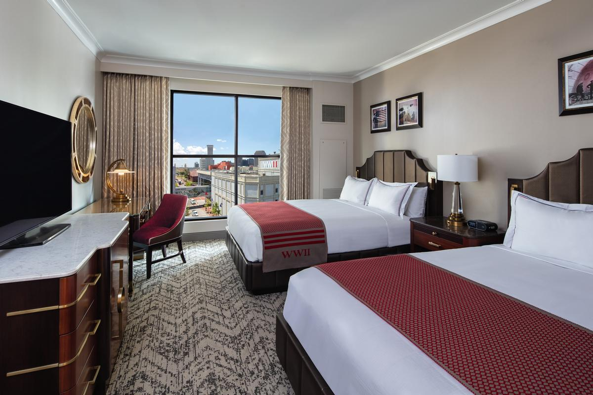 There are 230 rooms and suites in total, including three Presidential Suites / Hilton