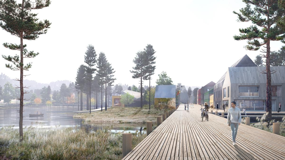 MAD sought to avoid what it saw as the typical suburban development of Norwegian city outskirts / Mad Arkitekter