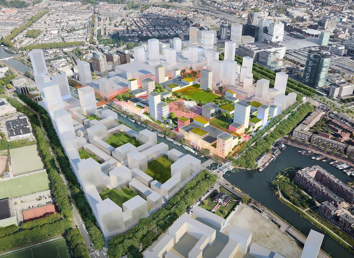 The 120,000sq m (1,300,000sq ft) venue will be the cornerstone of a wider 600,000sq m (6,500,000sq ft) masterplan / MVRDV