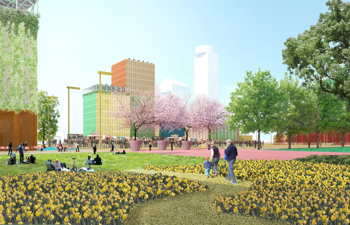 There will be a mix of hospitality, shops, offices and green spaces / MVRDV