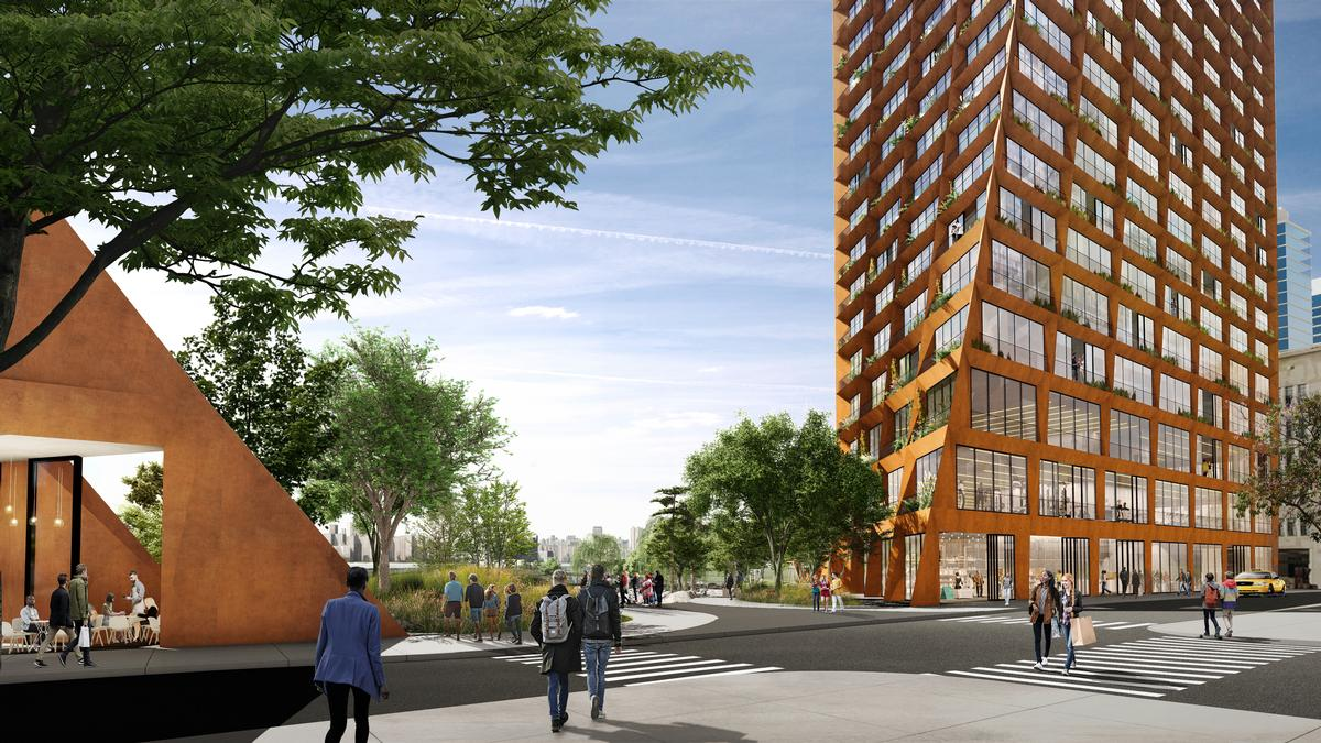 The development will be located in North Brooklyn / JCFO / BIG courtesy of Two Trees Management