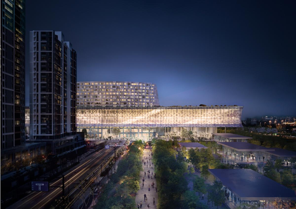 The museum will cover an area of 50,000sq m (540,000sq ft) and will be split across two floors / Herzog & de Meuron