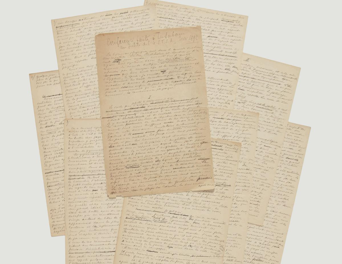 The hand-written, 14-page document led to the formation of the IOC in 1894 and, ultimately, the first modern Games being held in Athens in 1896 / Sotheby's