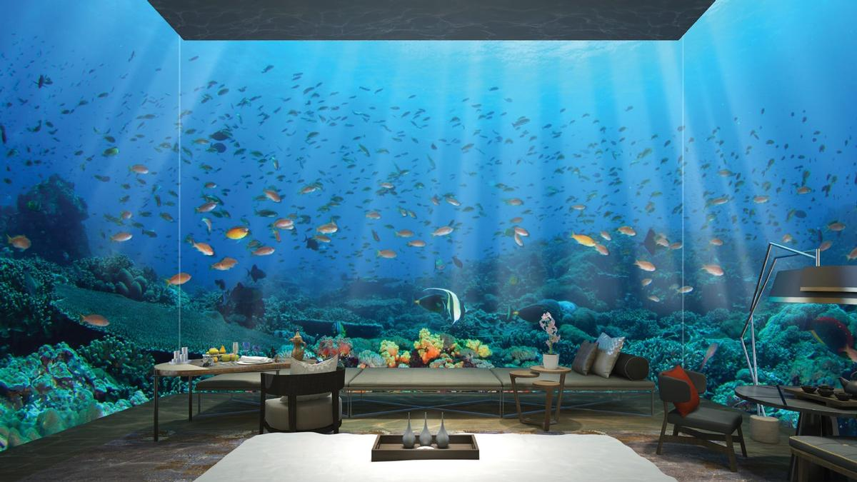 The resort will offer 835 villas and also include underwater villas.