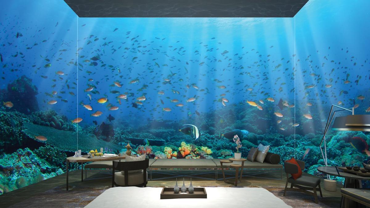 The resort will offer 835 villas and also include underwater villas.