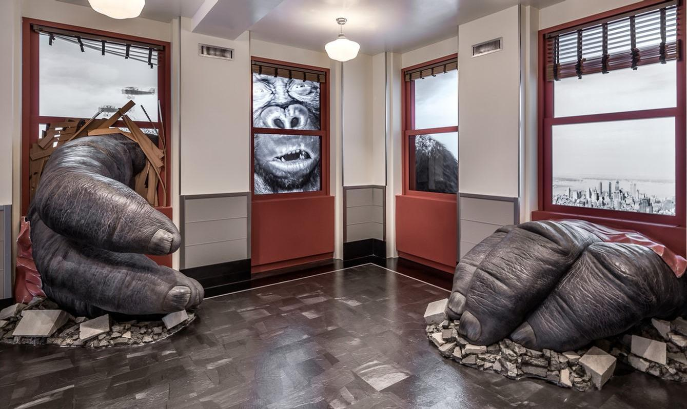 Part of the new visitor experience at the Empire State Building harks back to the classic 1930s film <i>King Kong</i>