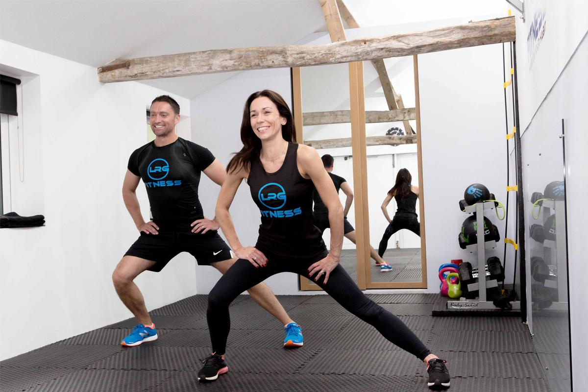 LRG Fitness is operated by ex-British Sports Aerobic champion Nina Gambling and husband Ben / LRG Fitness
