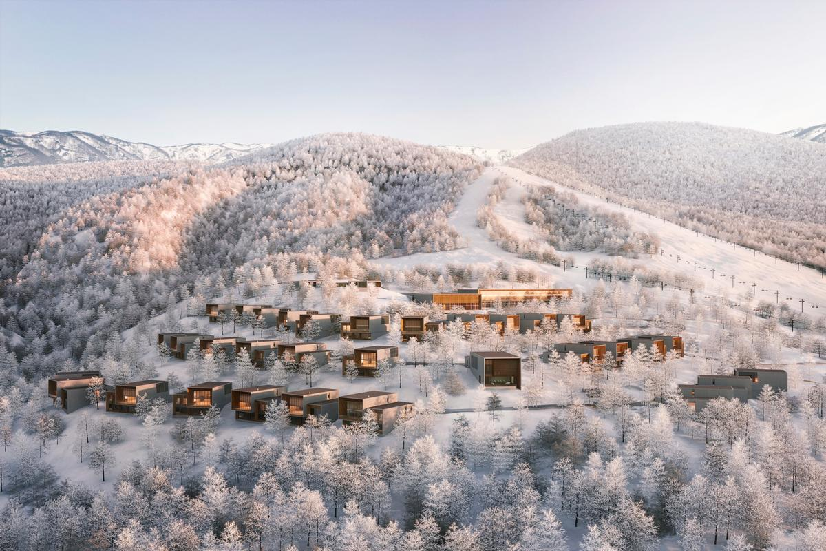 Aman Niseko is designed to take advantage of the surrounding forest and mountain scenery / Aman Resorts