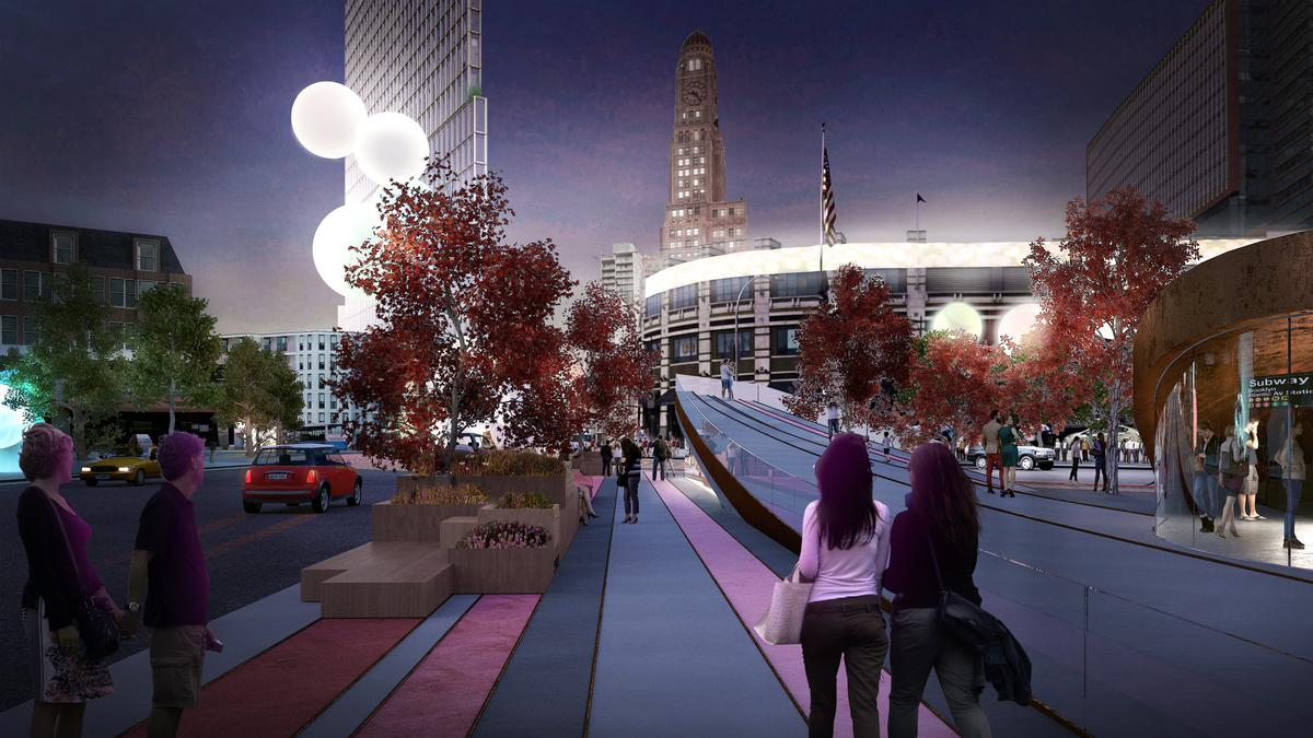 The introducing a cohesive streetscape with improved walkability is proposed / Bjarke Ingels Group