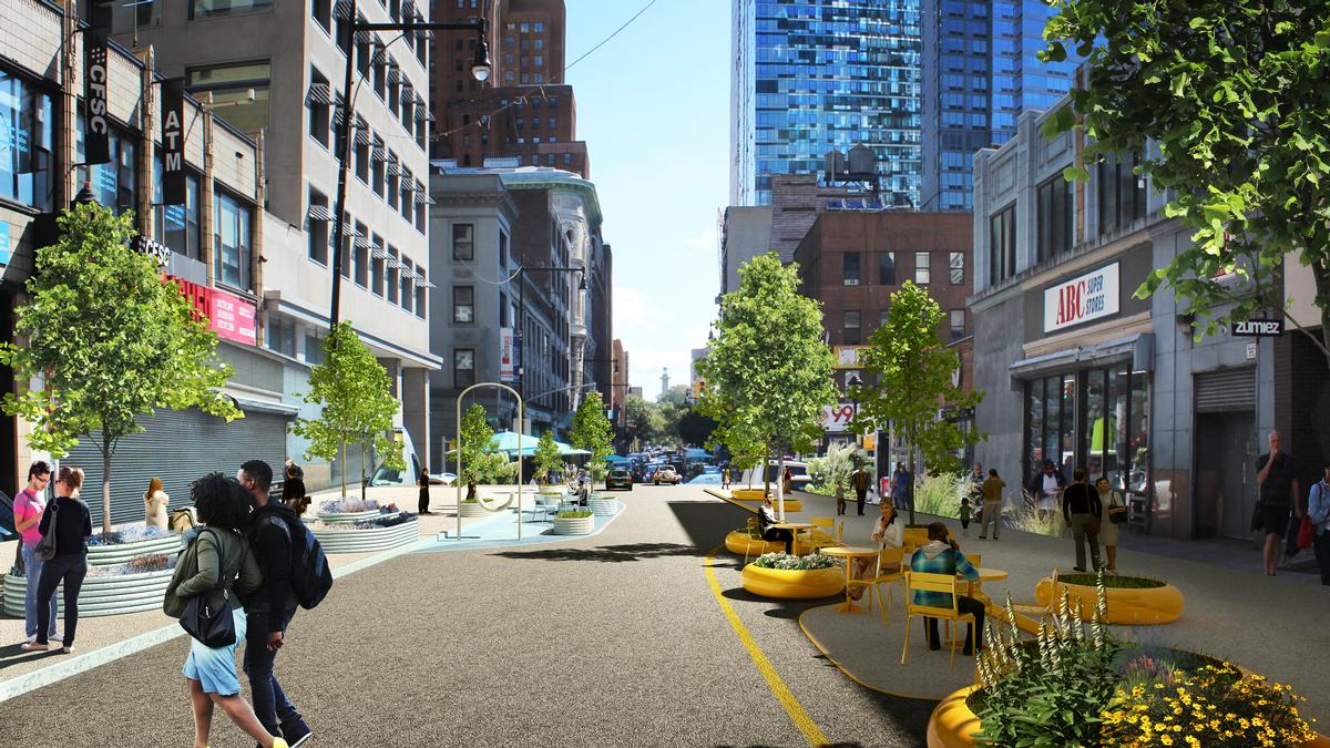 The plan aims to make the area safer for pedestrians and cyclists / Bjarke Ingels Group
