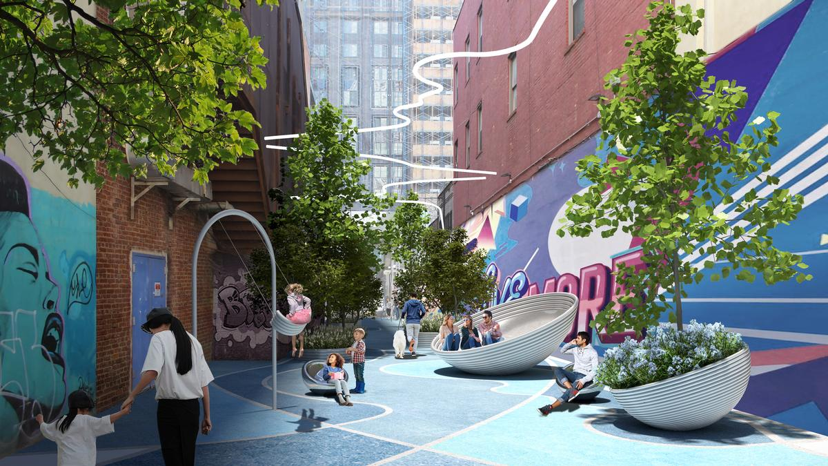 The study found that public spaces were used and animated by a 'diverse mix of residents, visitors and workers' / Bjarke Ingels Group