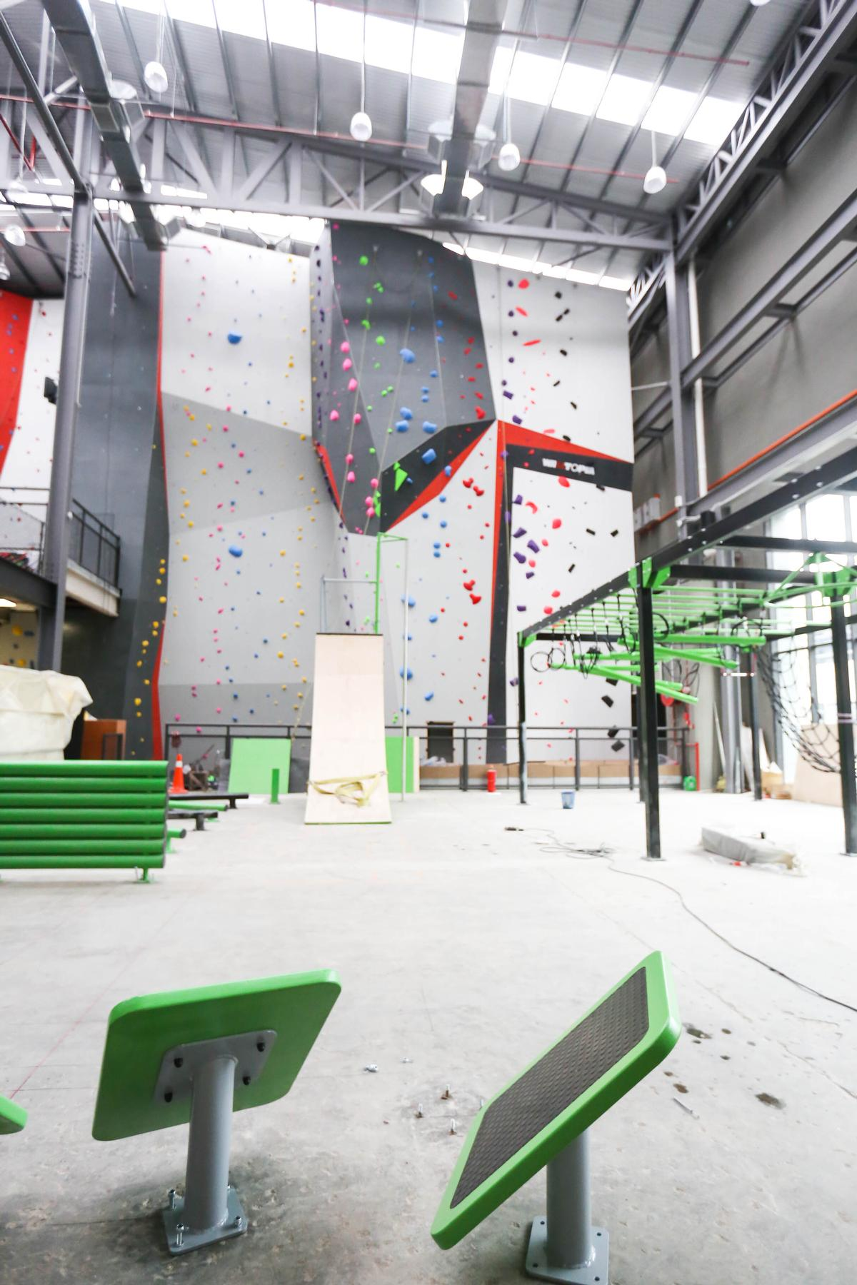 The obstacle course can be used as a training facility and has equipment for timing users