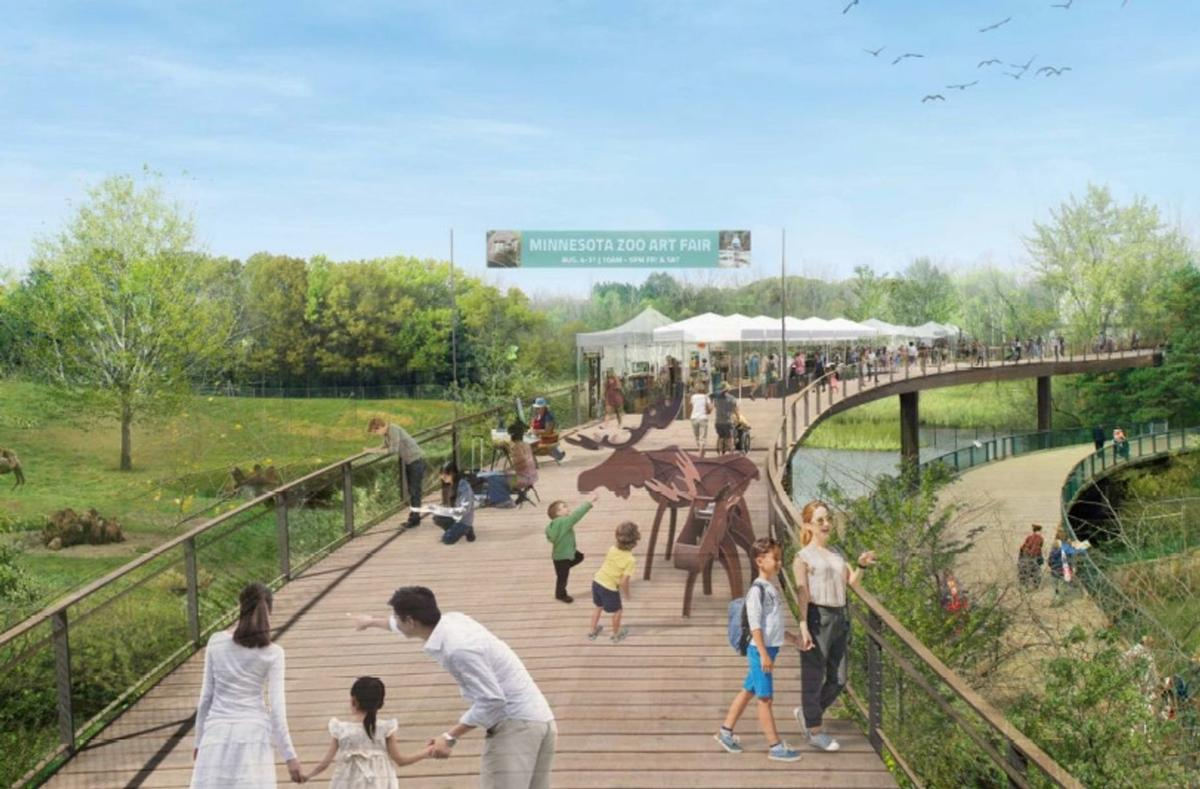 The Treetop Trail would transform the zoo's defunct monorail track / Minnesota Zoo