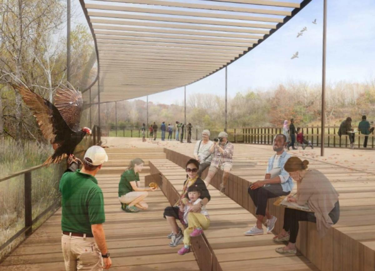 The trail would give visitors a new perspective of the zoo's animals in their natural surroundings / Minnesota Zoo