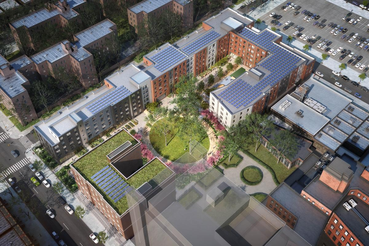 The development will be built on a 102,000sq ft (9,500sq m) site in Brooklyn / Dattner Architects