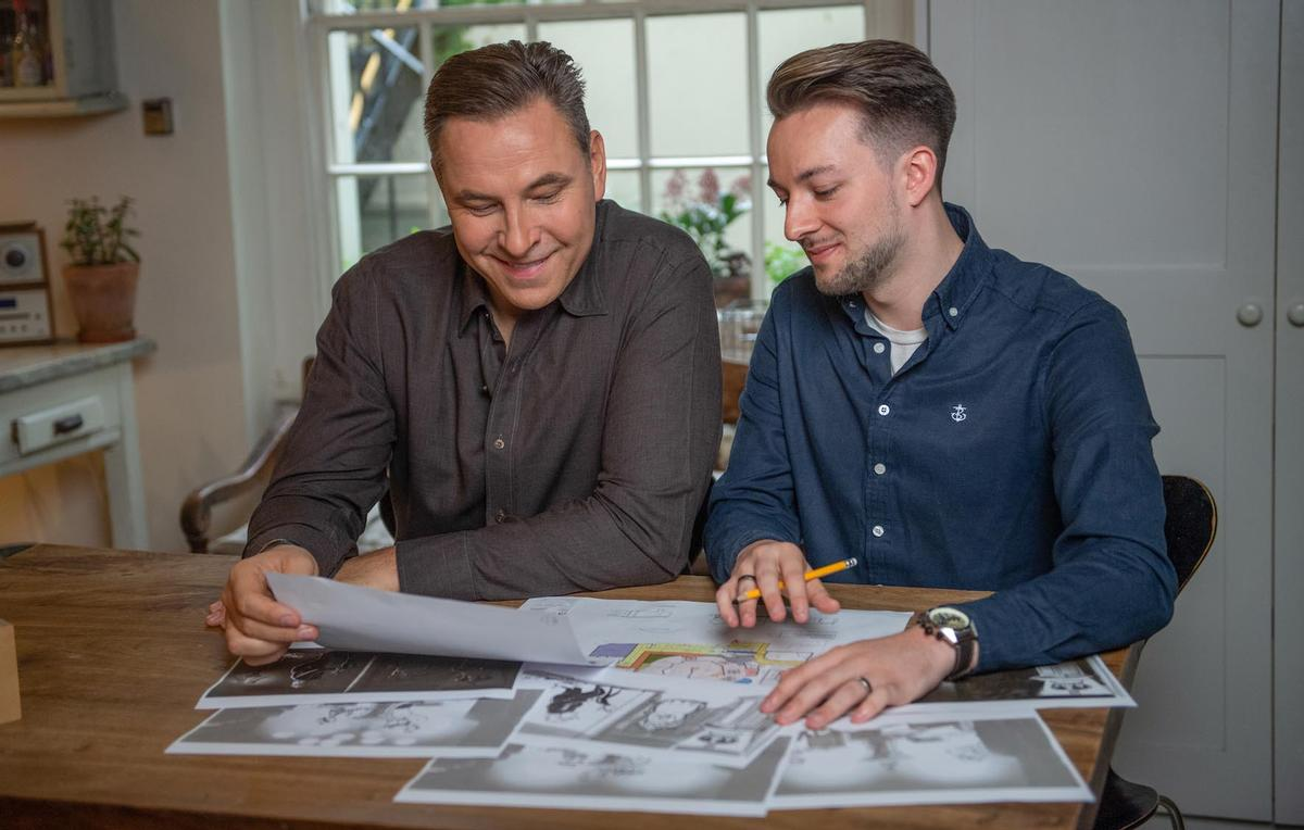 David Walliams has worked alongside Alton Towers' creative lead John Burton in creating the theme park ride