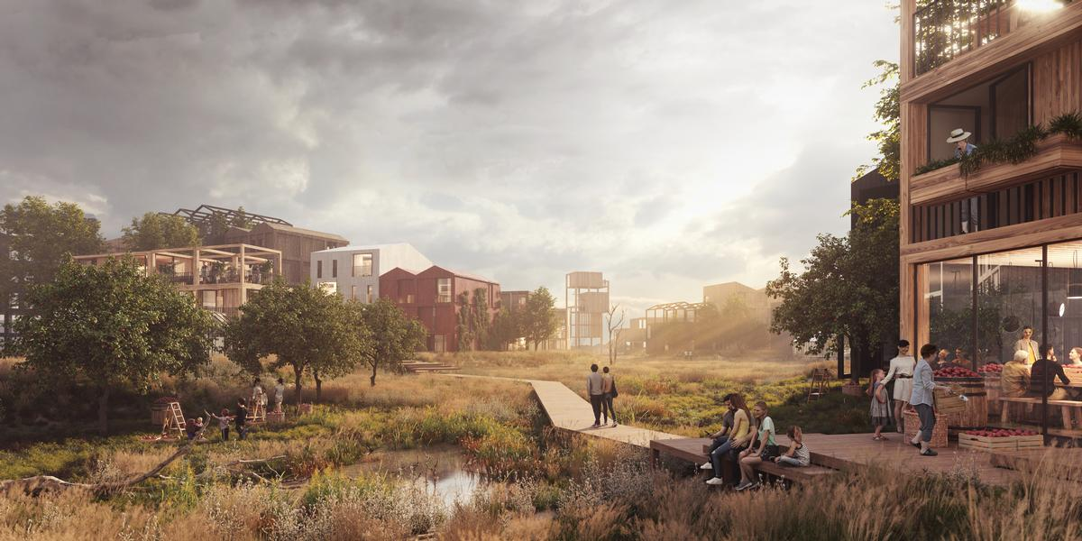 Fælledby will transform a former dumping ground and has been designed to accommodate 7,000 residents / Henning Larsen
