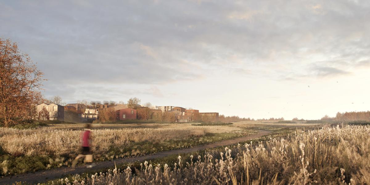 Around 40 per cent of the 18ha (44ac) district will be left undeveloped for nature to thrive / Henning Larsen