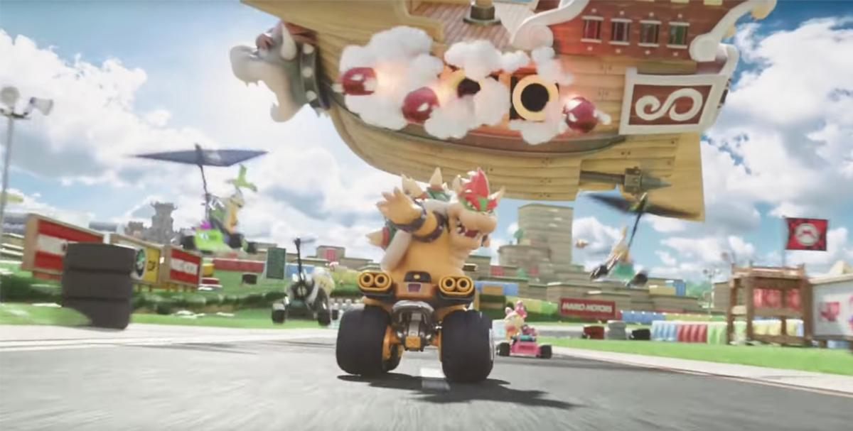 The music video shows a sneak peek of the upcoming Mario Kart attraction / Nintendo