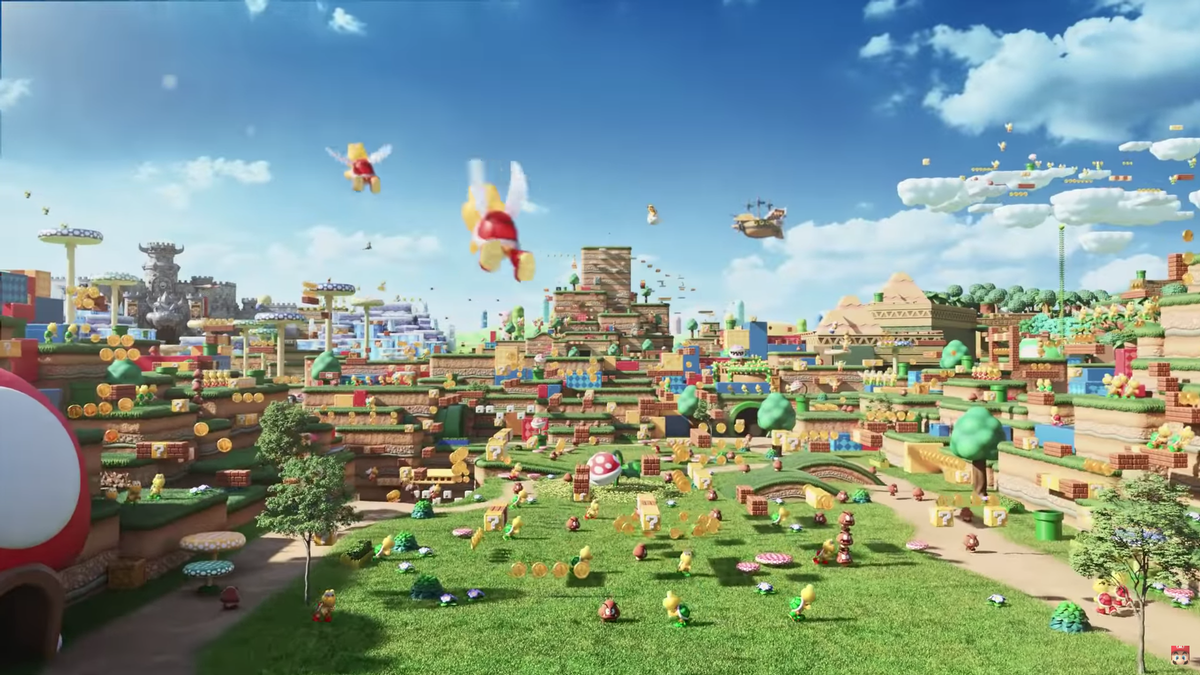 The theme park land will feature Nintendo's well-known worlds, characters and adventures / Nintendo